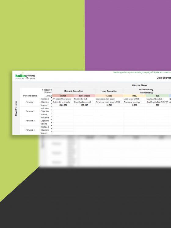 Data Segmentation Table Template
