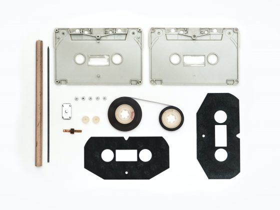 Dismantled Cassette Tape