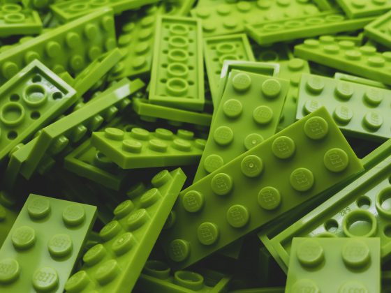 Green lego bricks
