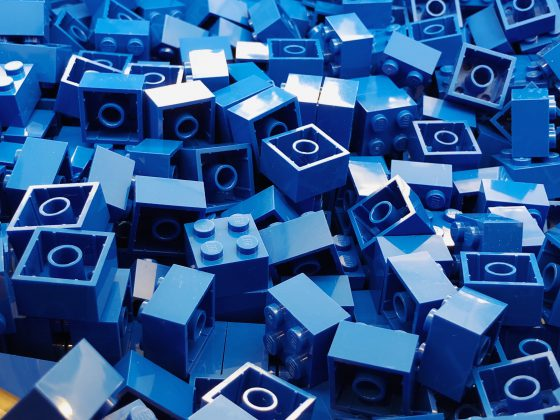 Blue Lego Bricks